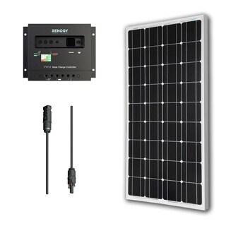 Renogy Solar Bundle Kit: 100W Monocrystalline 12V Solar Panel/ 30A Charge Controller/ MC4 Adapter Kit