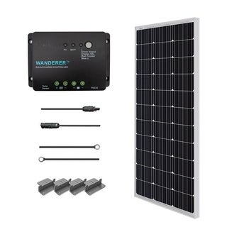 Renogy Solar Starter Kit: 100W Monocrystalline 12V RV and Boat Charger