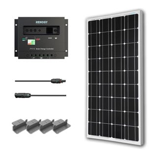 Solar Panel Starter Kit PV 100W 100 Watt Mono Off Grid 12V Power System RV Boat Charger