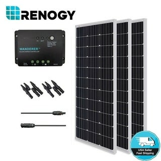 Solar Panel Bundle Kit Mono 300W with 3 100 W Panels/ 30A Controller/ MC4 Branch Connector/ MC4 Adapter Kit