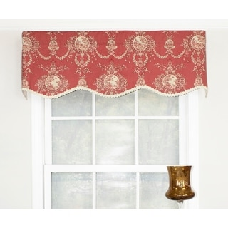 Cameo Toile Crimson Provance Window Valance