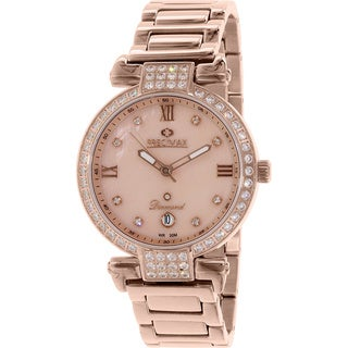 Precimax Women's PX13333 'Siren Diamond' Rose Gold Stainless Steel Watch