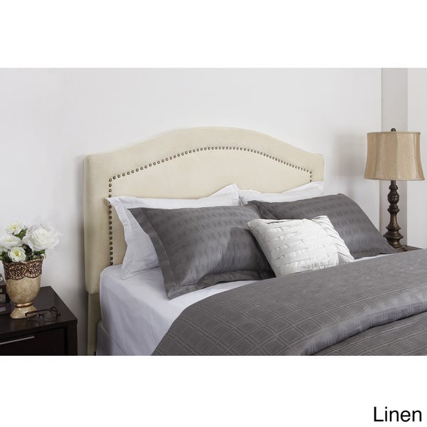 Dorel Living Addison Nailhead Trim Upholstered Queen