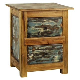Rustic Lyon Solid Mahogany Accent Table