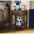 Dorel Living Kids Walnut 1-drawer Nightstand