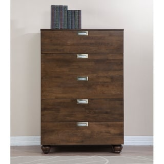 Mirella Pecan 5-drawer Chest