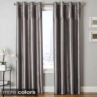 Cosmo Faux Silk Grommet Top Curtain Panel
