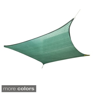 Cool Area Over-sized Sun Shade Sail with Stainless Steel Hardware Kit (13' x 19'8)