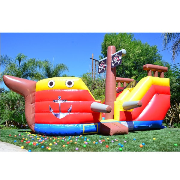 JumpOrange Pirate Ship Adventure Party Bounce House