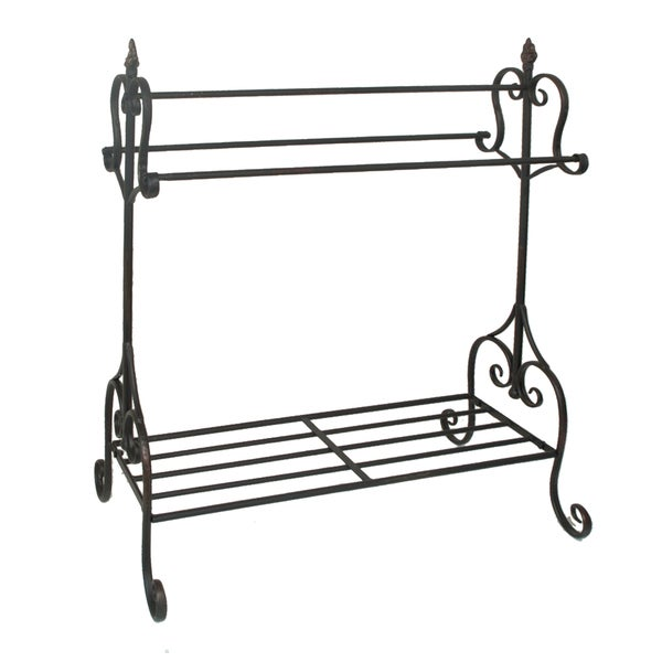 Black Metal Quilt Rack