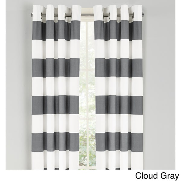 OVERSTOCK EXCLUSIVE Avondale Manor Ella 84-Inch Curtain Panel Pair