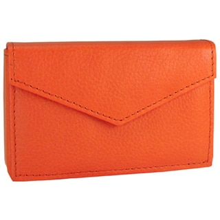 Alicia Klein Orange Leather Business Card Holder