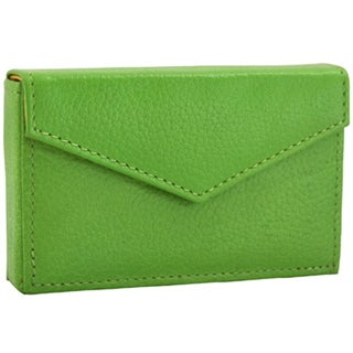 Alicia Klein Grass Green Leather Business Card Holder