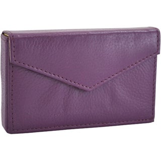 Alicia Klein Purple Leather Business Card Holder
