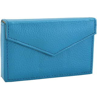 Alicia Klein Turquoise Leather Business Card Holder