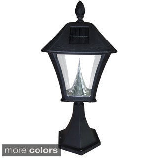 Gama Sonic GS-106P Baytown Solar Light with 6 Bright-White LEDs and Pier Base for Flat Mount