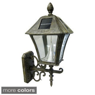 Gama Sonic GS-106W Baytown Solar Light with 6 Bright-White LEDs and Wall Mount