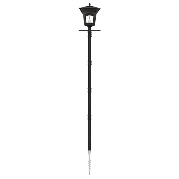 gama sonic gs 52s g peking solar lamp post light with 8 bright white. Black Bedroom Furniture Sets. Home Design Ideas
