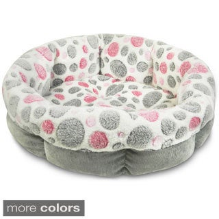 Precision Pet 21-inch Shearling Round Bolster Pet Bed