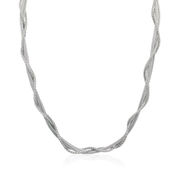 Gioelli Sterling Silver Intertwined Mesh Necklace