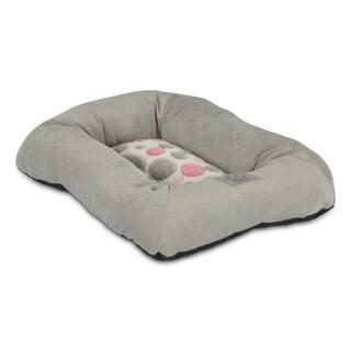 Precision Pet Pink / Gray Polka-Dot Rectangle Pet Bed