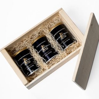 Wooden Gift Box Gourmet Black Label Nuts