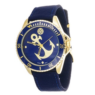 The Macbeth Collection Anchor Women's Fashion Nylon Band Blue Watch
