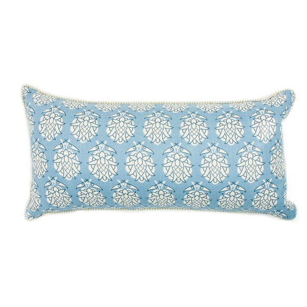 Pineapple Smokey Blue Pillow
