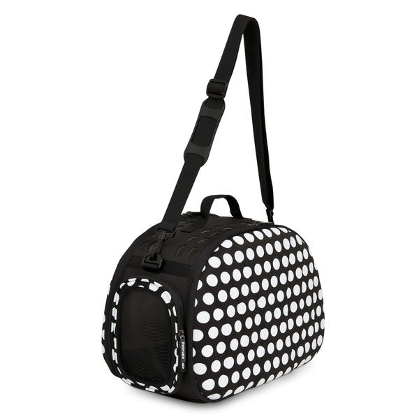 Petmate Curvations Black / White Polka-dot Pet Carrier