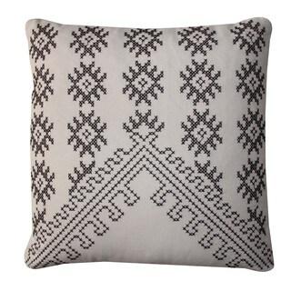 Frez Cream Square Throw Pillow