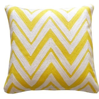 Zallie Yellow Chevron Pillow