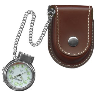 Dakota Men's Leather Pouch Pocket Watch