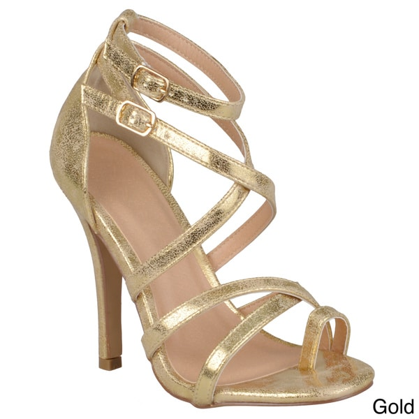 Journee Collection Women's 'Roxanne-3' Strappy High Heel Sandals