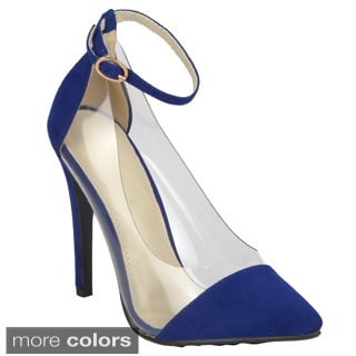 Journee Collection Women's 'Olga-1' Pointed Toe Ankle Strap Heels