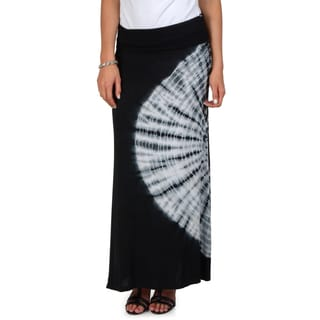 Hailey Jeans Co. Junior's Fold-over Top Tie Dye Maxi Skirt