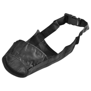 BasAcc Size 4 Black Strong Fabric Nylon Soft Comfortable Dog Muzzle