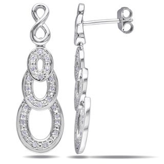 Miadora Sterling Siler 1/4ct TDW Diamond Infinity Earrings (H-I, I2-I3)