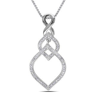 Miadora Sterling Silver 1/3ct TDW Diamond Infinity Necklace (H-I, I2-I3)