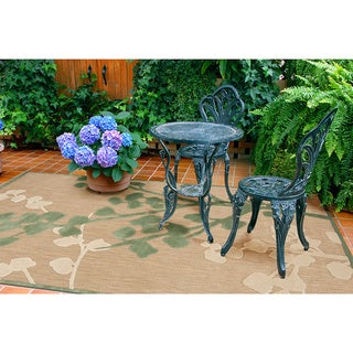 Meticulously Woven Jenny Transitional Floral Indoor/ Outdoor Area Rug (5' x 7'6)