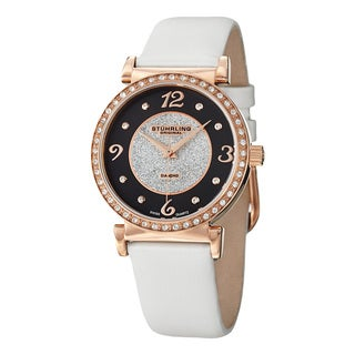 Stuhrling Original Woman's Astra Swiss Quartz Leather Strap Watch