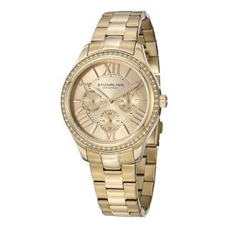 Stuhrling Original Woman's Lady Majestic Se Quartz Stainless Steel Bracelet Watch