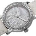 Burgi Women's Quartz Diamond MOP Genuine Leather Strap Watch