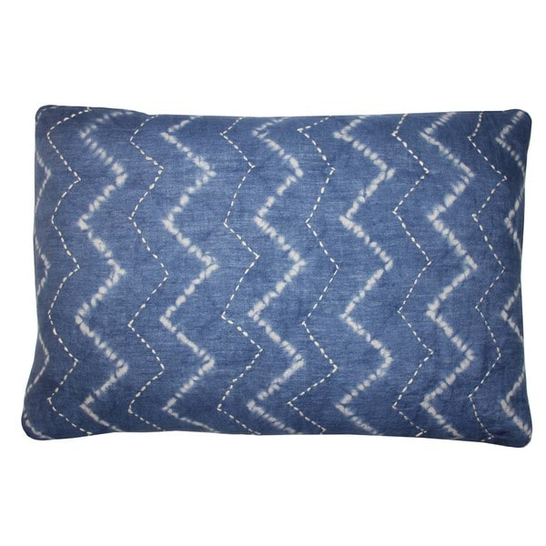 Tie Dye Denim Decorative Throw Pillow
