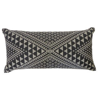 Jiti Tangiers Charcoal Throw Pillow