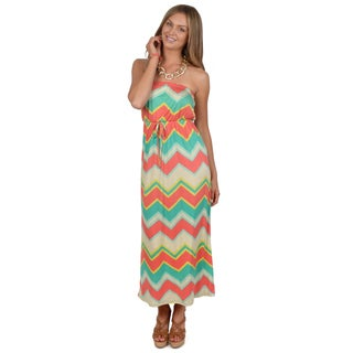 Hailey Jeans Co. Junior's Strapless Empire Waist Maxi Dress
