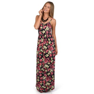 Hailey Jeans Co. Junior's Sleeveless Floral Print Maxi Dress