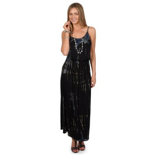 Hailey Jeans Co. Junior's Sleeveless Tie Dye Maxi Dress