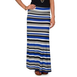 Hailey Jeans Co. Junior's Striped Fold-over Maxi Skirt