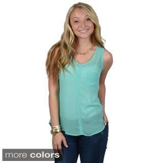 Journee Collection Women's Sleeveless Chiffon Top