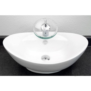 European Style Oval Shape 23-Inch Porcelain Ceramic Bathroom Vessel Sink